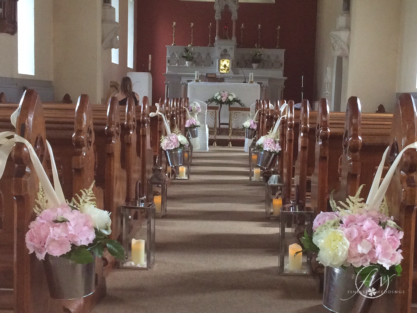 Boyne Hill House Church Wedding Decor