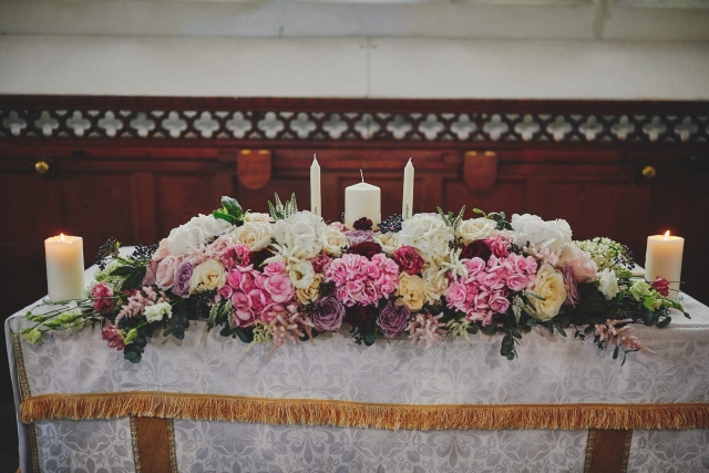 Alter arrangement for wedding