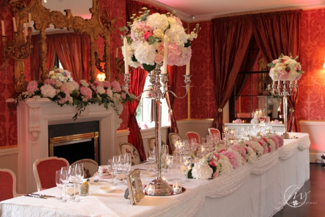 Ballyfin Demesne Ballroom floral arrangements - wedding decorations