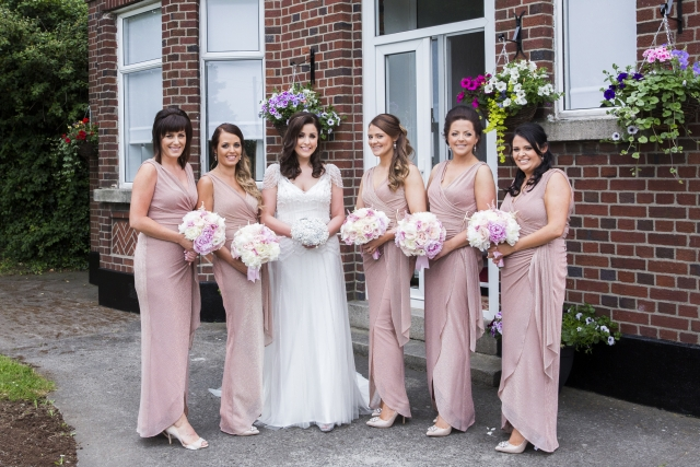 Ciara Blake bridal party flowers