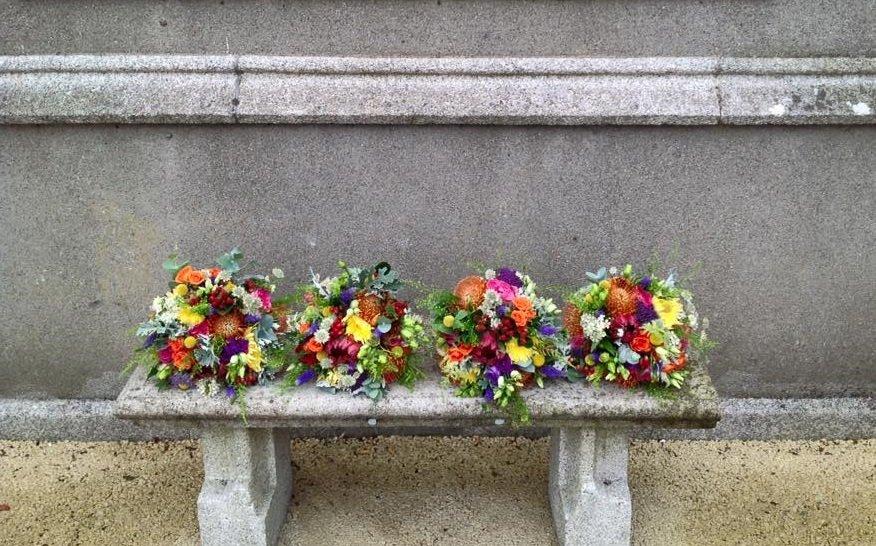 Colourful autumn bouquets