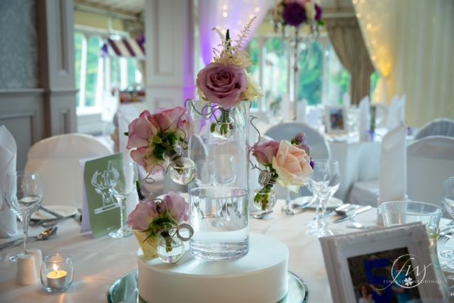 Faithlegg House Hotel - bubble vase floral centerpiece