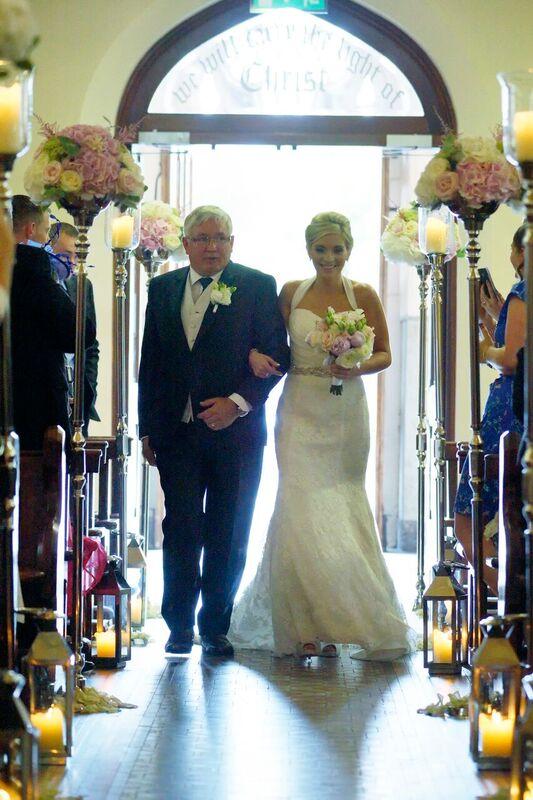 Church wedding decor - Aisle stands and lanterns