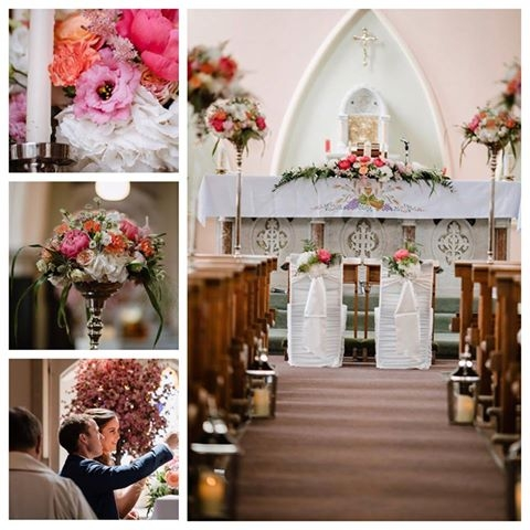 Wedding flowers for church ceremony