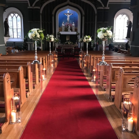 St John's church Killenard wedding flowers and candles