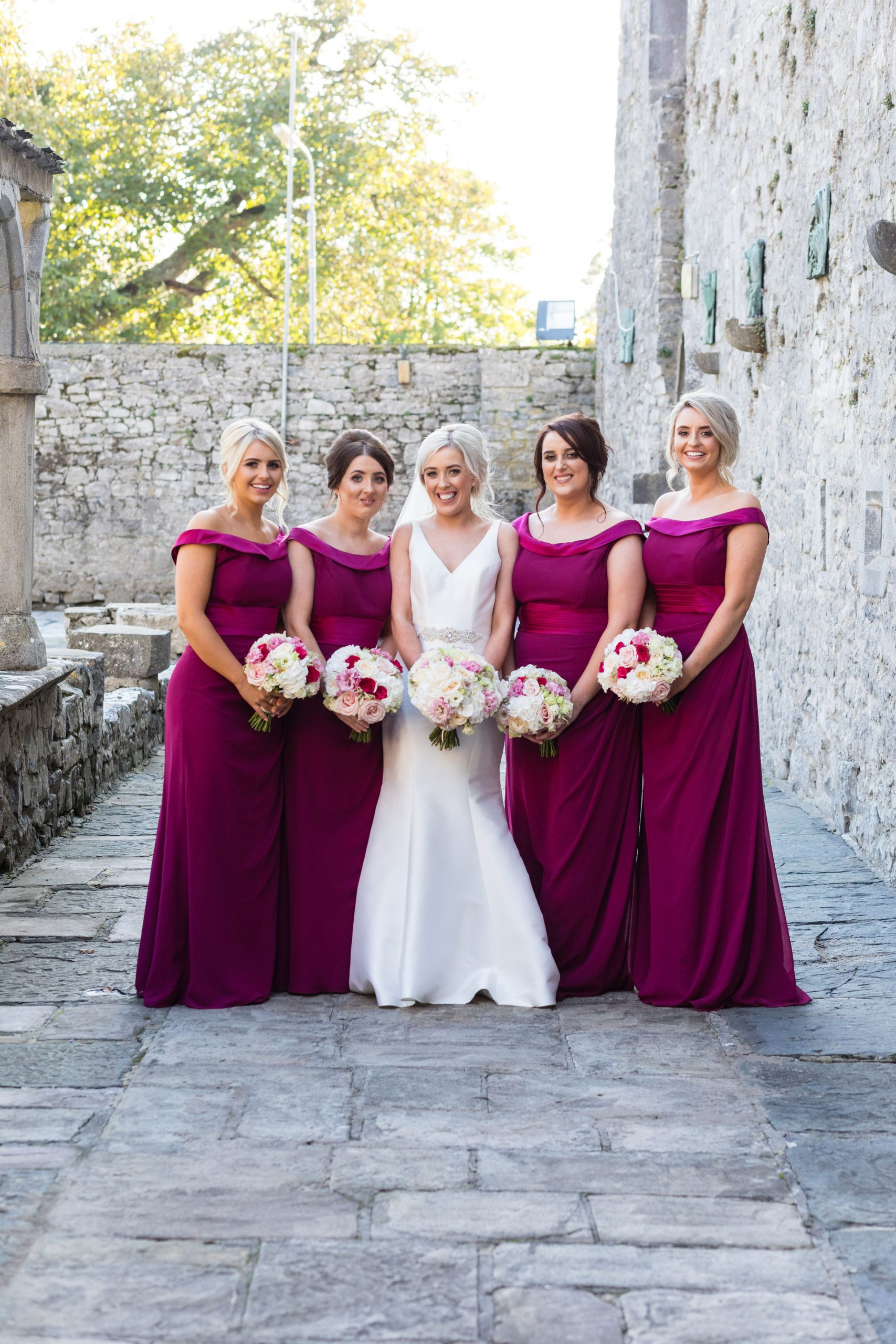Fuschia wedding bouquets