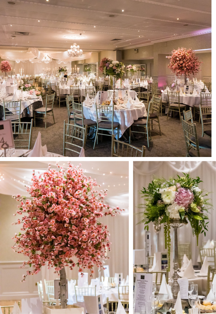 County Arms hotel wedding venue decor